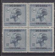 N° 73  XX  MNH  NEUF  IN BLOK VAN 4 - Ruanda-Urundi