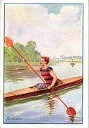 3 Trade Cards Chromo Rowing Canotage Regatta Skiff Sculling Pub Cambrai Comp Photographique Imp Hutinet Match Box Label - Aviron