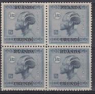 N° 74  XX  MNH  NEUF  IN BLOK VAN 4 - 1924-44: Ungebraucht