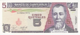 GUATEMALA   5 Quetzales   17/1/2007   P. 106c   UNC - Guatemala