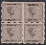 N° 80  XX  MNH  NEUF  IN BLOK VAN 4 - 1924-44: Ungebraucht
