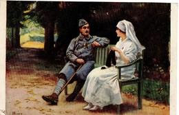 Infirmière /  Militaire Convalescent / H. Tenré - Health
