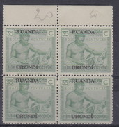 N° 64  XX  MNH  NEUF  IN BLOK VAN 4 - 1924-44: Ungebraucht