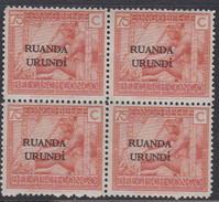 N° 57  XX  MNH  NEUF  IN BLOK VAN 4 - 1924-44: Ungebraucht