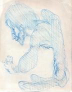 Tesson Gérard.Stylo Bleu.la Feuille :27 X 21 Cm. - Dessins