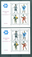 HELVETIA - Mi Blok Nr 22 - INTERNABA 1974 - MNH** + Gest./obl. - Cote 11,00 € - Bloques & Hojas