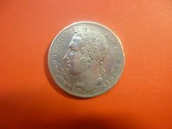 LEOPOLD 1er 5 FRANCS ARGENT 1849 QUALITE : VOIR PHOTOS - 11. 5 Francs
