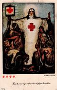 CROIX ROUGE - Allard L'Olivier - Mais La Croix Rouge Veille Et éclaire Les Foyers De Malheur / Infirmière / Belgique - Salute
