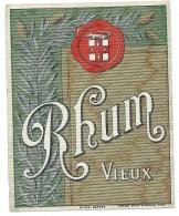 étiquette Rhum  Vieux  Imp Haberer Douin Et Jouneau  N°519  Vers 1915 - Rhum