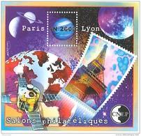 Bloc CNEP - Salons Philatéliques - Paris - Lyon - An 2000 - CNEP