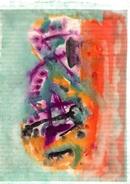 TESSON Gérard.Gouache.Abstraction Lyrique.dessin :306 X 243 Mm.non Signée - Dessins