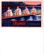 2 Poster Stamps Cinderella Rowing Canotage Regatta Skiff Sculling Pub  Schocolade Trumpf Boon's Cacao Wormerveer - Aviron