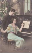 CPA  VOEUX. Leçon De Piano. ...T467 - Nouvel An