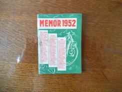 """NANTERRE SEINE SOVAL """"MEMOR"""" VADEMECUM DE POCHE POUR TOUS EDITE ET OFFERT PAR """"CAMPARI"""" 1952 - Publicités"""