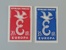 France Non Dentelé 1173 1174 1173a 1174a Neuf Luxe ** Europa - No Dentado
