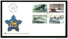 South Africa 1982 Naval Submarine Ship Coat Of Arms Sc 560-63 FDC # 16161 - Submarines