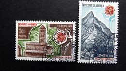 """Andorra Franz. 290/1 Oo/ESST, EUROPA/CEPT 1978, Kirche Von Pal, Bergmassiv """"Haus Karls Des Großen"""""""