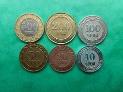 Armania 10,20,50,100,200,500 Dram 2003-2004 (Lot Of 6 Coins) - Arménie