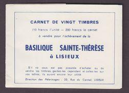 FRANCE.TIMBRE.VIGNETTE.VIGNETTES......CARNET. BASILIQUE SAINTE THERESE LISIEUX COMPLET 20 VIGNETTES - Commemorative Labels