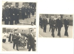 Lot De 3 Photos Cartes D'un Enterrement, Funérailles Mais Où A SITUER - Région Herve, Aubel, ...??  ( 1236) B110 - Funérailles