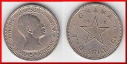 *** GHANA - 2 SHILLINGS 1958 - TWO SHILLINGS 1958 DR KWAME NKRUMAH *** EN ACHAT IMMEDIAT !!! - Ghana