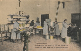 ´s Gravenwezel Pensionnat Huishoudschool - Preparation Du Beurre / Bereiding Van Boter - Schilde