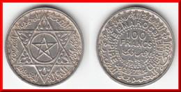 **** MAROC - MOROCCO - 100 FRANCS 1953-AH1372 - ARGENT - SILVER **** EN ACHAT IMMEDIAT !!! - Maroc