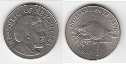 **** SEYCHELLES - 1 RUPEE 1976 - COQUILLAGE - TRITON CONCH SHELL **** EN ACHAT IMMEDIAT !!! - Seychelles