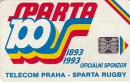 Czechoslovakia, CS-CSF-PUB-0016B, Sparta Praha Rugby - 100 Let, 2 Scans.    Chip : SC5  SB  Dark Blue Back