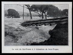 1932  --  83 VAR   --   LA VOIX DE CHEMIN DE FER  DU SUD FRANCE A 5 KM DE SAINT TROPEZ   3L.938 - Vieux Papiers