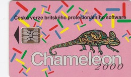Czechoslovakia, CS-CSF-PUB-0024, Chameleon, 2 Scans.    Chip : SC5  SB - Czechoslovakia