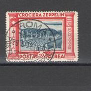 REGNO 1933 POSTA AEREA CROCIERA ZEPPELIN 10 LIRE ANNULLATA - Luftpost