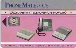 Czechoslovakia, CS-CSF-PUB-0017B, PhoneMate, 2 Scans.    Red CN Under Logo C2B - Czechoslovakia