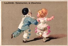 3Trade Cards Chromo Roller Skate Patinage à Roulettes Rollschuh Litho C1900 Pub Lajoie Chartres Imp BOGNARD Pierrots - Sports