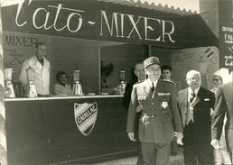 PHOTOGRAPHIE ORIGINALE MILITAIRE 1950 GENERAL JUIN INAUGURATION FOIRE DE RABAT MAROC MILITARIA PHOTOGRAPHE TELLIER - Army & War