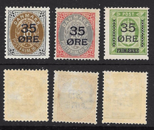 DANMARK - 1912 - Servizio Soprastampati Nuovo Valore - N. 62 / 64 * , Serie Compl.- Cat. 55 €  - Lotto 316