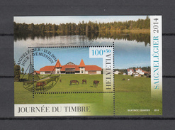 2014   BLOC JOURNEE DU TIMBRE SAIGNELEGIER  OBLITERE     CATALOGUE ZUMSTEIN - Used Stamps