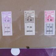 LOT  TUNISIE  TIMBRE  TAXE   1945.47  AU TYPE  1923.29  TIMBRES  NEUFS  GOMME  D ORIGINE - Segnatasse