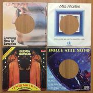 4 Buste In Carta Disco Juke Box Gloria Gaynor, Mia Martini,  Dolce Stile Novo, George Harrison - Accessories & Sleeves