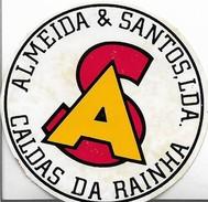 VINTAGE PORTUGUESE  Sticker ALMEIDA E SANTOS CALDAS DA RAINHA - Autocollants