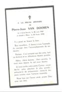 Faire-part De Décès De Pierre-Jean VAN DOOREN - SAINT - SERVAIS 1947 / MEUS 1970 (cha) - Avvisi Di Necrologio