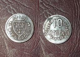 ALLEMAGNE - HESSE-NASSAU Ville De WIESBADEN - 10 Pfennif Vers 1920 - [11] Collections