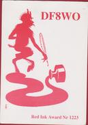 QSL Card Amateur Radio Station Biersdorf Germany Duivel Diable Devil Teufel Diablo Diavolo QTH Illustrator Illustrateur - Radio Amatoriale