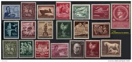 ALLEMAGNE DEUTSCHES III REICH ** Lot De 20 Timbres-poste Dont Moins De 5 Avec Adhérences Au Dos - Germany