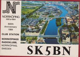 QSL Card Amateur Radio Station Sweden Sverige Zweden Suède Schweden Norrkoping Radioklubb 1984 - Radio Amateur