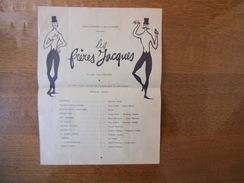 LES FRERES JACQUES FERNAND LUMBROSO ET JEAN CLAIRJOIS PRESENTENT...PROGRAMME PARMI LES OEUVRES SUIVANTES:.... - Programme