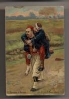 Frères D'Armes - Illustration D'après P. Grolleron - Zouave - Soldat Blessé De Guerre - Militaria