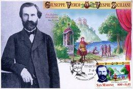 19594 San Marino, Maximum 2001, Giuseppe Verdi,  Music Opera Composer, Vespri Siciliani  Music Opera - Musik