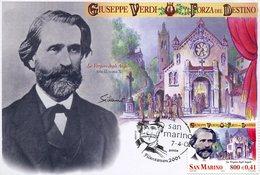 19596 San Marino, Maximum 2001, Giuseppe Verdi,  Music Opera Composer, Forza Del Destino  Music Opera - Music