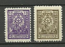 LITAUEN Lithuania 1923 Michel 187 & 189 * - Litauen